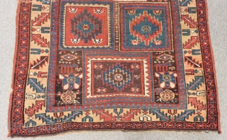 Antique Persian Saucbulak Fragment Carpet Size.140x118cm