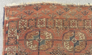 Antique Türkmen Tekke Small Carpet Size.98x83cm