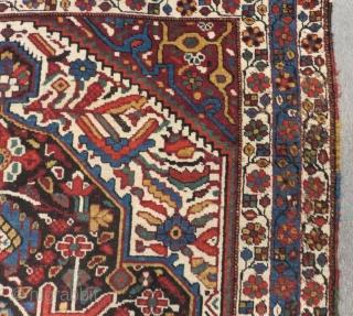 Antique Persian Qashqaii Qamse Rug Size.200x148 Cm