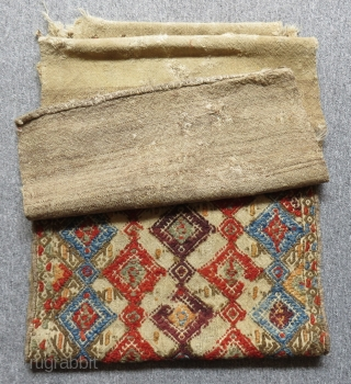 Antique Central Anatolian Konya Obruk Cecim Bag Size.112x47cm