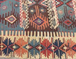 Antique East Anatolian Malatya Kilim Size.260x80cm