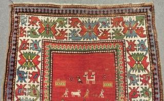 Antique Caucasian Karabagh Rug Circa 1880 Size.232x122 Cm