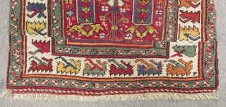 Mid 19th Century West Anatolian Mihalic Prayer Rug Size.112x94 Cm