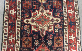 Antique Nort West Persian Rug All Colours Natural Circa 1870.80 Size.365x135 Cm