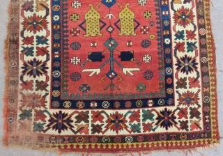 Antique Caucasian Treelife Kazak Carpet.Size:260x135cm