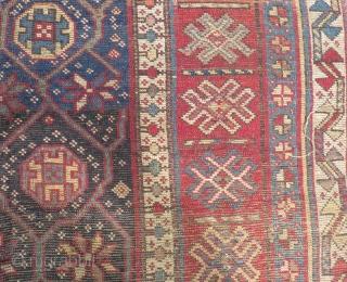 Antique Caucasian Zakatala Carpet Size.227x135cm
