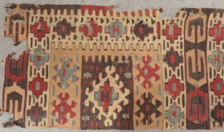 Mid 19th Century West Anatolian fragment Kilim Size.240x90 Cm