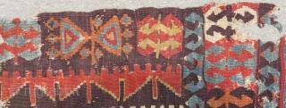 18th Century Central Anatolian Kapatocya Fragment Kilim Size.170x96cm