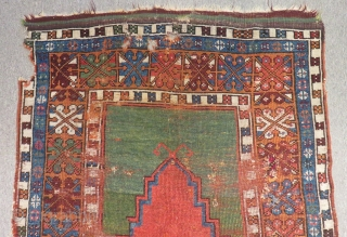Antique Central Anatolian Konya Preyar Carpet Sizi.137x97cm