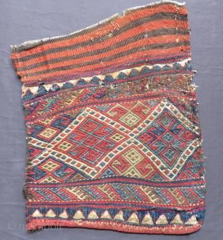Antique Persian Cecim Bagface Two pieces Size.42x36cm42x39cm