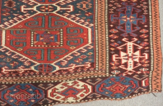 Antique East Anatolian Kasr Kağızman Carpet Size.240x145cm