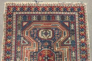 Antique Caucasian Sirvan Carpet Size.128x95cm