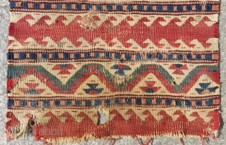 West Anatolian Kilim Bagface Size.43x40 Cm