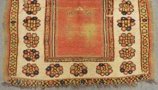 Second 19th Century Manastır Prayer Rug Size166x122 Cm