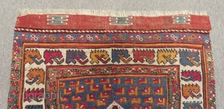 19th Century West Anatolian Mihalic Prayer Rug Size.112x94 Cm