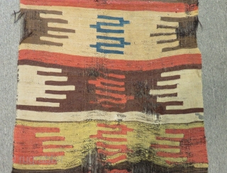 Early 19th Century South  Anatolian Mud Kilim fragment Size.250x71cm