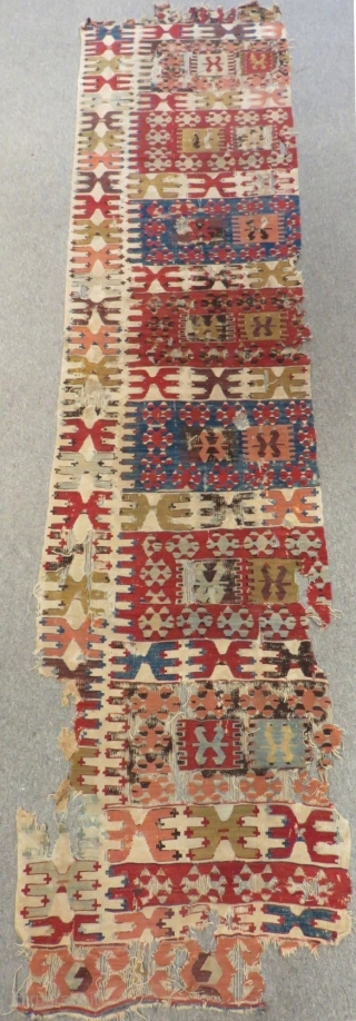 Early 19th Century Anatolian Kilim One Part Size.310x62cm