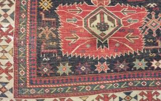 Antique Caucasian Shirvan Sahnazar Rug Circa 1880 90 Size.235x120 Cm