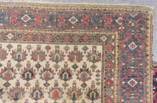 Antique Caucasian Shirvan Kuba Rug Size.133x113 Cm