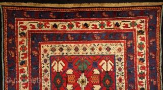 Caucasian Kuba Shirvan Small Rug All Colours Natural Circa 1880-90 Size.108x87 Cm