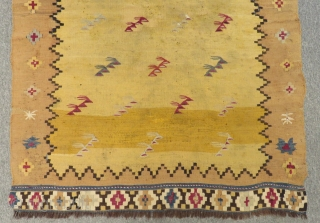 Antique Manastır Kilim Some old Repair in the midle Size.130x97cm