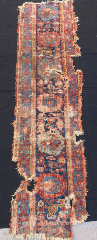 Early 18th Century West Anatolian Ushak fragment Size.230x60 Cm