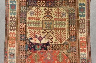 Antique Caucasian Chayli Rug Aksafa Border Circa 1860-1870 Size.274x110 Cm