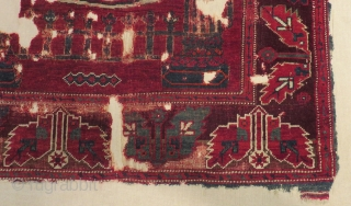 19th Century West Anatolian Balıkesir Bergama Prayer Carpet Size.152x122cm
