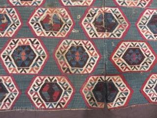 19th Century East Anatolian Kilim Fragment Size.118x84cm