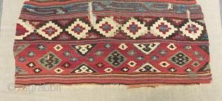 19th Century Anatolian Kilim Size.140x95cm