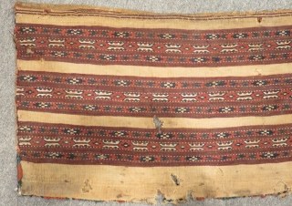 Antique Türkmen Yamud Cuval Kilim Size.80x40cm