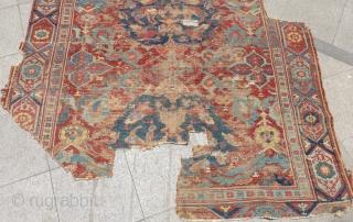 Early 18th Century West Anatolian Ushak Rug orginal Size.315x195 Cm