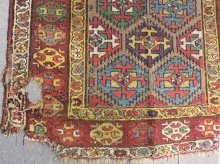 Early 19th Century Persian Kurdısh Rug Size.184x98Cm