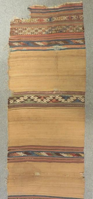 Mid 19th Century West Anatolian Kilim Size.385x85 Cm