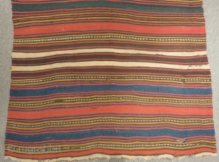 Central Anatolian Striped Kilim Size.460x144cm