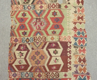 Antique East Anatolian Sivas Kilim Part of one Size.290x85cm