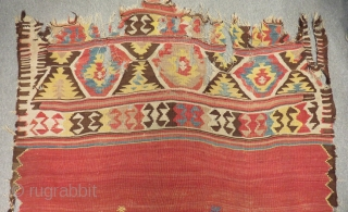 Early 19th Century West Anatolian Fethiye Kilim Size.290x140cm