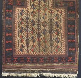 Antique Baluch Prayer Rug Size.122x95cm