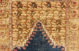 Early 19th Century West Anatolian Prayer Gordes Rug Size.200x140 Cm