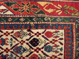 Antique Caucasian Shirvan Marasalı Rug Size.134x95 Cm