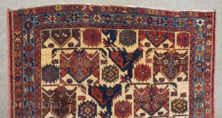 Antique Persian Afshar Rug Size.110x106Cm
