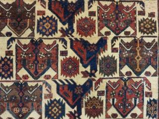 Antique Persian Afshar Rug Size.110x106Cm