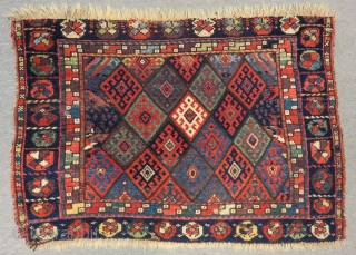 Antique Persian Jaff Bagface Size.102x70 Cm