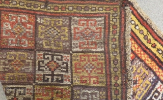 Early 19th Century Central Anatolian Konya Bozkır Rug Size.178x146 Cm
