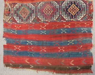 Second 19th C East Anatolian Malatya Chuval Size.180x110 Cm
