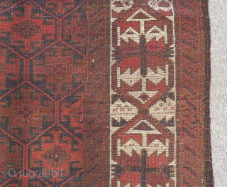 Antique Baluch Rug Size.180x105cm