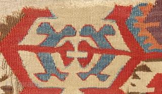 18th Century Central Anatolian Kilim fragment Size.64x55cm