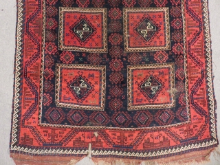 Antique Baluch Rug Size.225x120cm