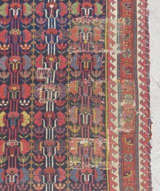 Early 19th Century Persian Sautchbulag Runner Rug Size.580x105 Cm