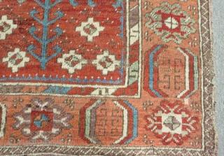Early 19th Century Central Anatolian Konya Rug Size.148x106